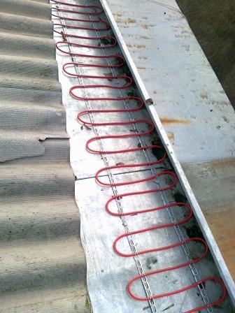 двужильный нагревательный кабель для обогрева желобов и водосточных труб