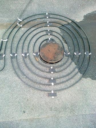 одножильный нагревательный кабель для антиобледенения кровли и водостоков